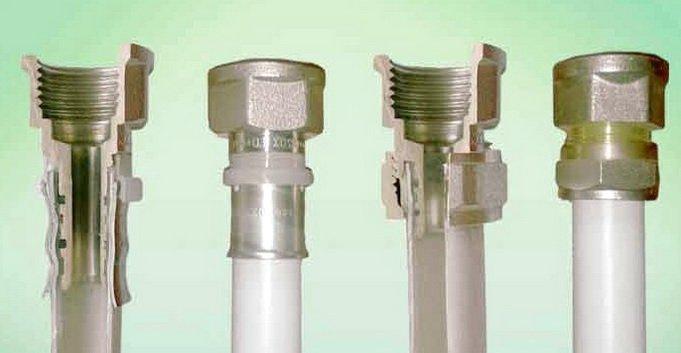 Крепление фитингов на металлопластиковых трубах