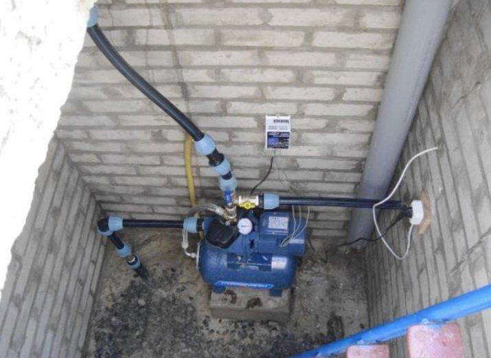 Оборудование кессона для насоса - много свободного места