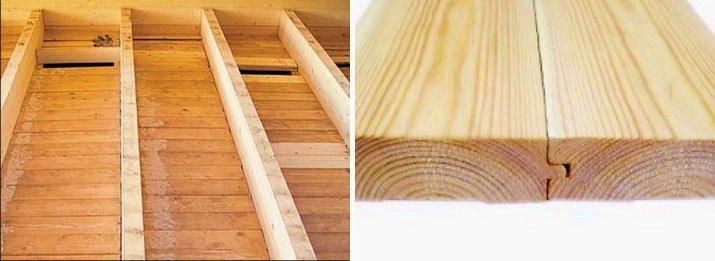 Настилка деревянного пола часто ведется по лагам