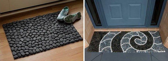 Из гальки можно сделать коврик