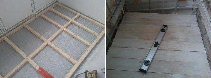 Как сделать пол на балконе из доски