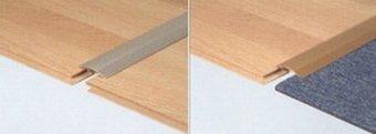 Стыковка ламината с другими напольными покрытиями