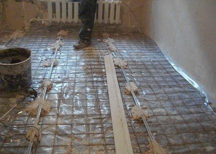 Армировка бетонных полов сеткой