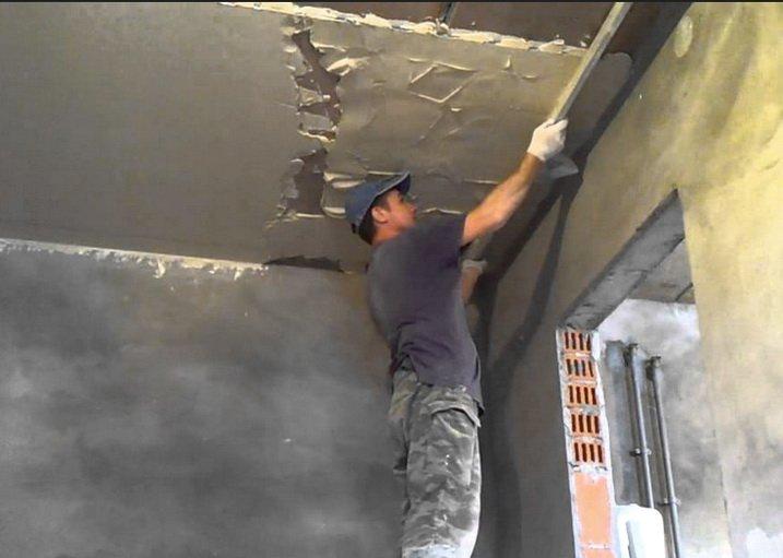 Как выровнять потолок - с помощью штукатурки и шпаклевки