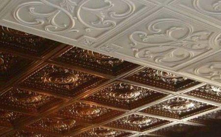 Плитка на потолке разных цветов