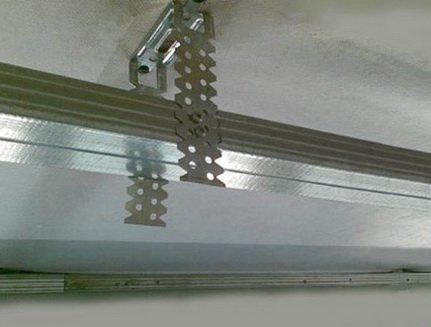 Подвесы для профилей при монтаже подвесного потолка