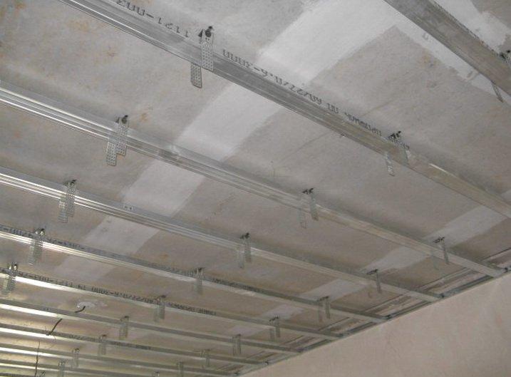Потолок из гипсокартона монтаж инструкция