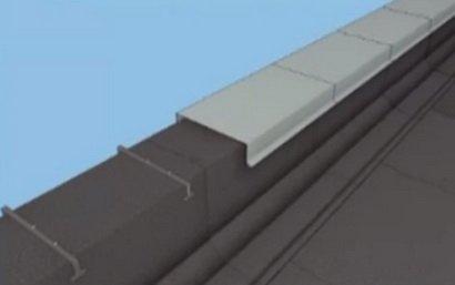 Невысокий парапет также покрывается материалом