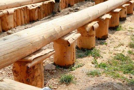 деревянные сваи под деревянный дом