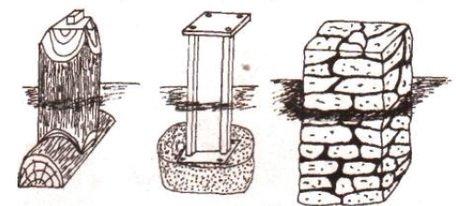 Несколько вариантов столбчатых фундаментов