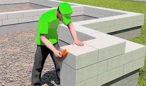 Из газобетона возводят стены