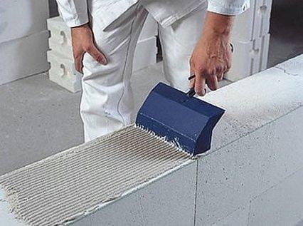 Строительство стены из пеноблоков