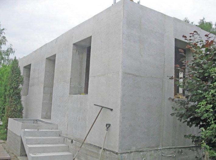 Как построить стены из бетона