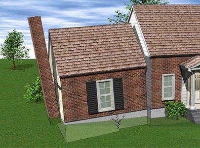 Дом разбитый пучением грунта