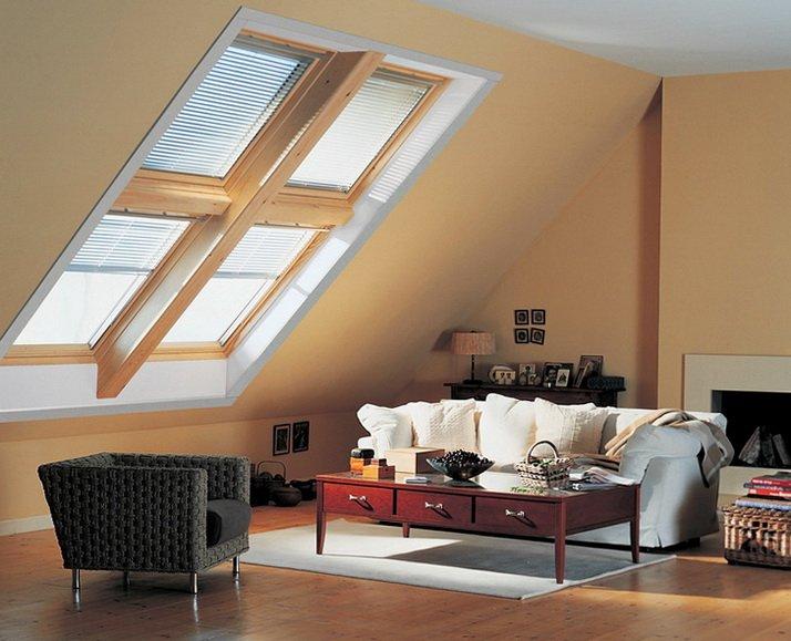Мансардные окна пропускают много света