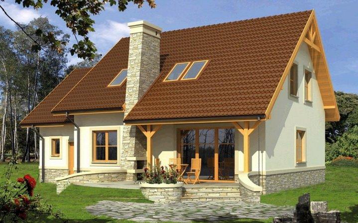 Одноэтажный дом с мансардой - экономичное решение