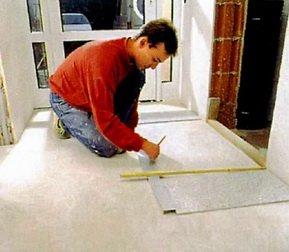 Разметка плитки из керамогранита на полу
