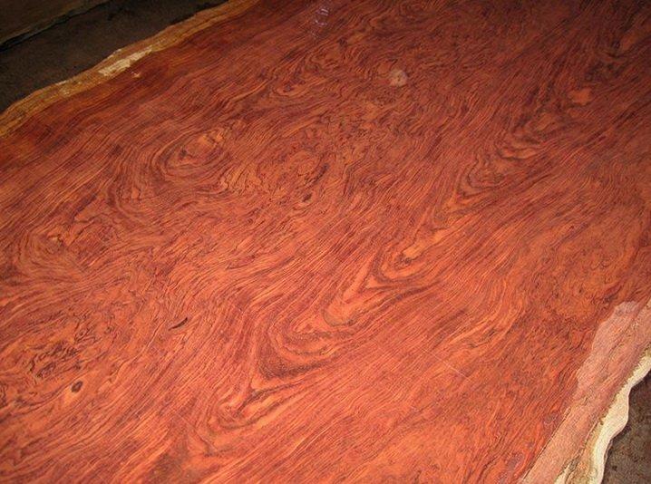 Распиленный ствол дорогой древисины бубинго