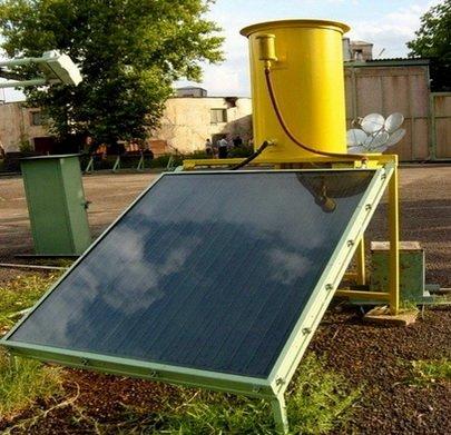 Плоский солнечный коллектор установленный на земле
