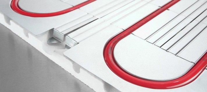 Система укладки трубопровода теплого пола на металле