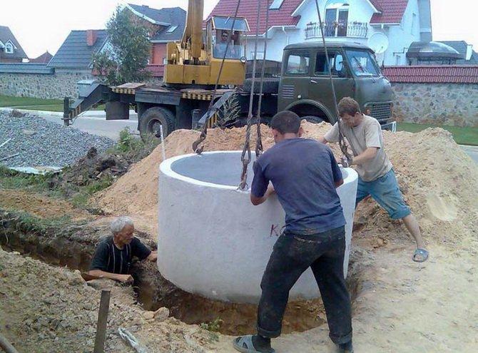 Ведется строительство из колец