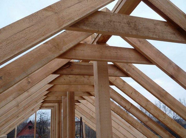 Строительство крыши, деревянные стропила