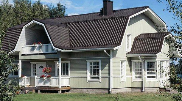 Ломанная крыша сделает мансарду просторной