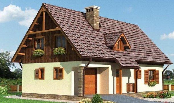 Двухскатная крыша неплоха для мансарды