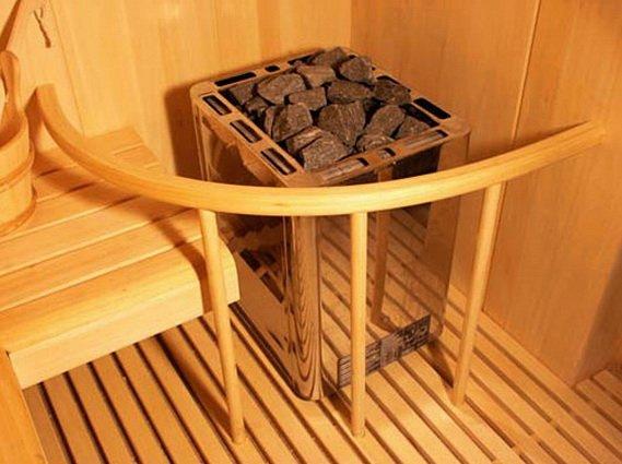Печка каменка устанавливается в сауне