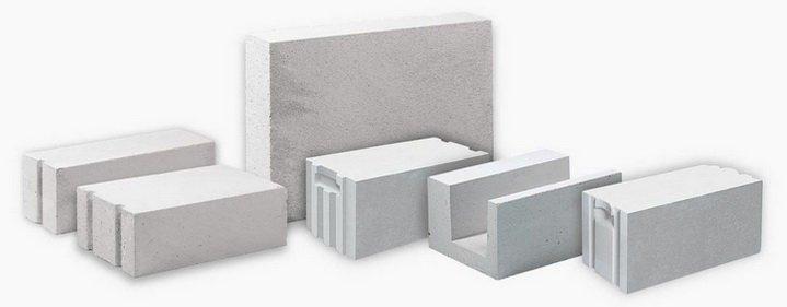 Различные блоки из газобетона