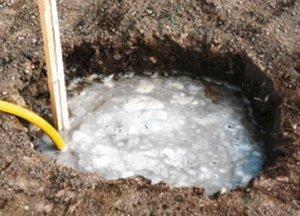 Заполнение ямы водой