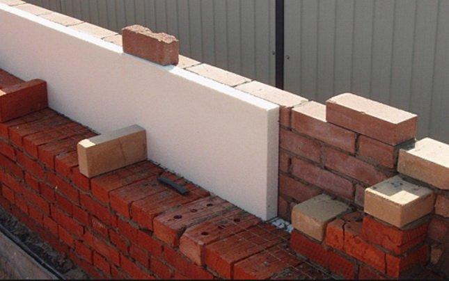 Стена с утеплителем пенополистирол без вентиляционного зазора