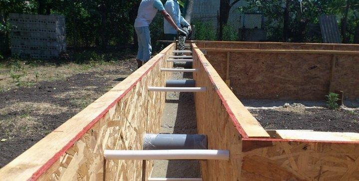 Опалубка из ОСП плит для бетона