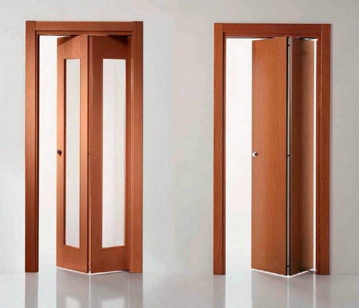 Вариантов складных дверей может быть множество