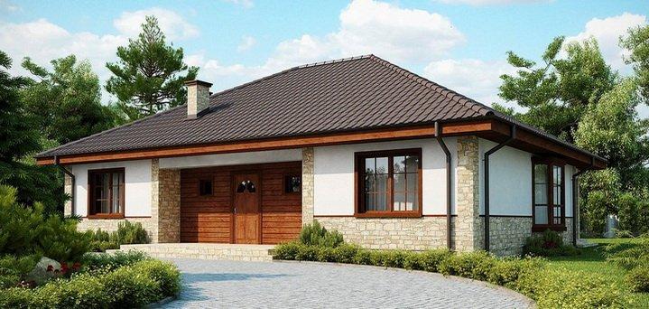 Одноэтажный дом - удобный и престижный