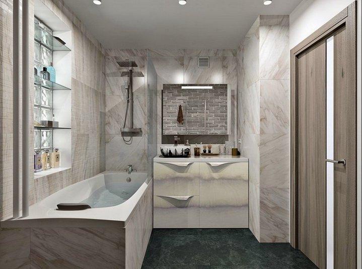 Ванная комната должна быть светлой и просторной