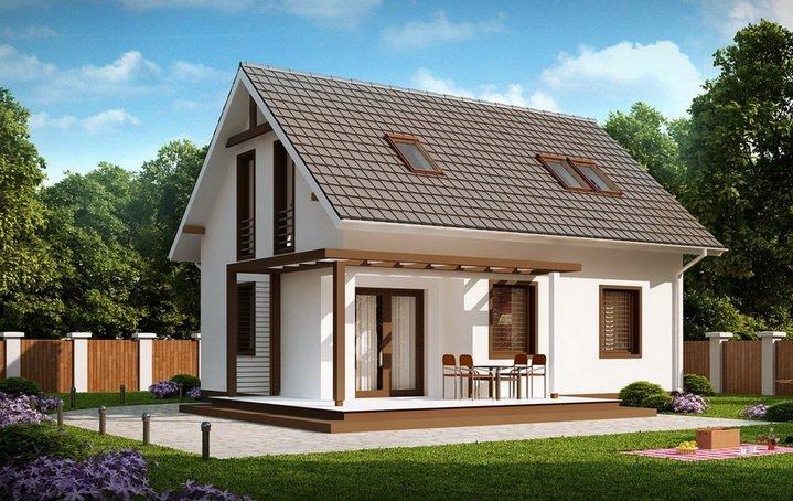 Ожноэтажный дом с мансардой - типовой экономичное решение