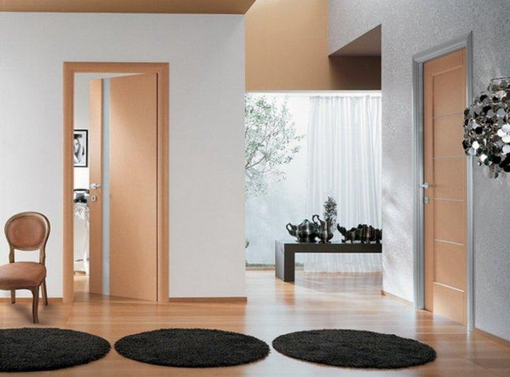 Варианты установки межкомнатных распашных дверей