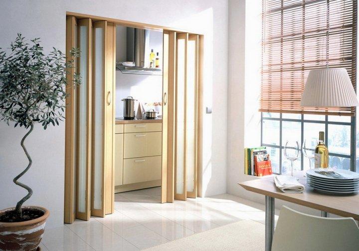 Складные двери в дизайне помещения