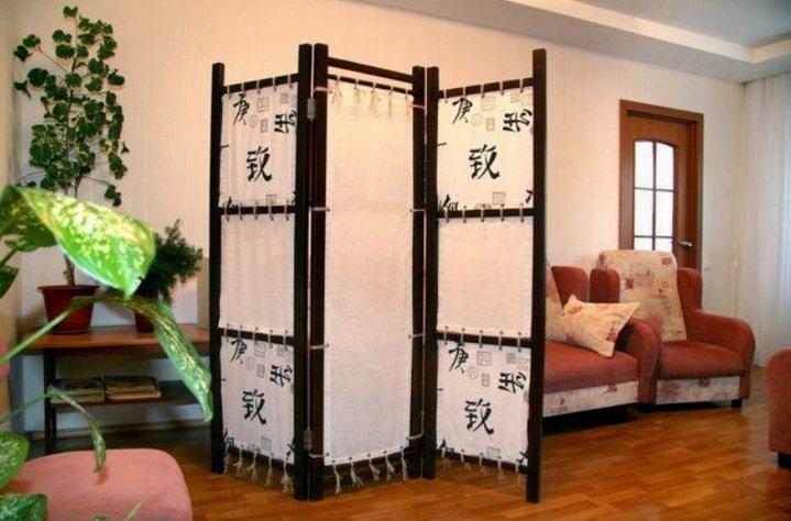 Особенности комнат с ширмами - легкими перегородками