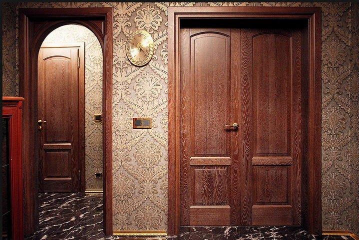 Особенные двери, покрытые шпоном ценных сортов древесины