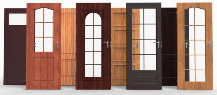 Разнообразные коробчатые двери для комнат