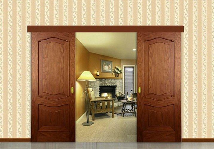 Ламинированные двери раздвижной конструкции