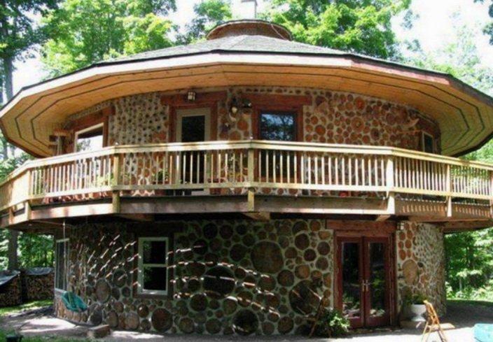 Круглый дом из чурок - распространенная технология строительства