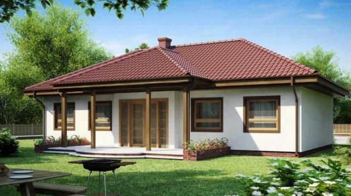 Одноэтажный дом небольшой но практичный