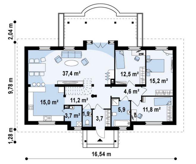 Планировка дома 125 м кв для семьи