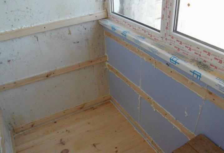 Отделка балкона и лоджии при утеплении крепится на обрешетку