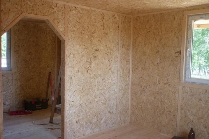 Каркасный дом построенный из формальдегидных плит