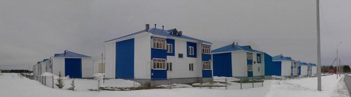 Много каркасных домов построенных из осп-плит