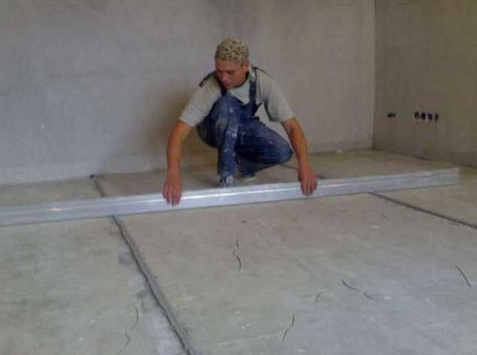 Как выровнять стены и пол под плитку